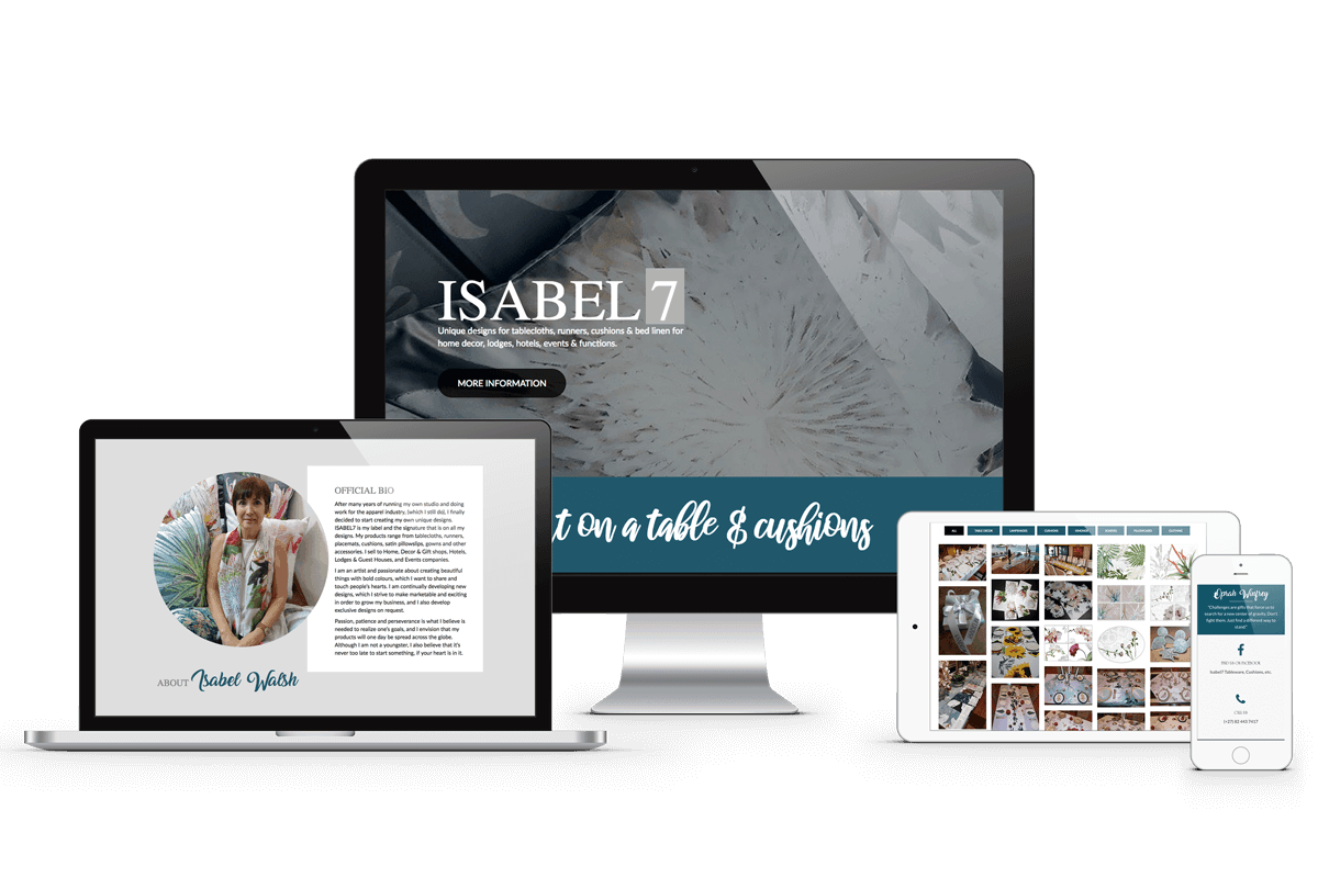 one page landing page website